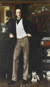 James Tissot, Chichester Parkinson-Fortescue, Baron Carlingford, 1874.