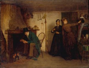 Eastman Johnson, Nowy czepek, 1876.